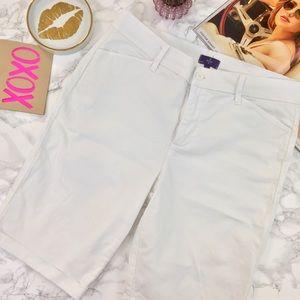 NYDJ Stretch White Bermuda Shorts